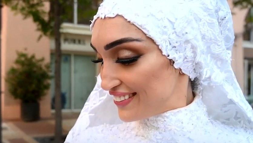 Wstrząsające wideo z sesji ślubnej w Bejrucie