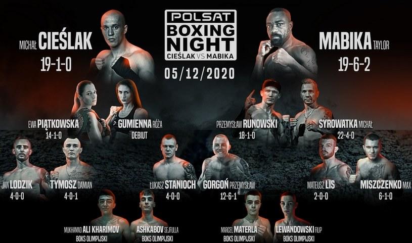 Wszyscy bohaterowie gali Polsat Boxing Night /Materiał prasowy /Informacja prasowa