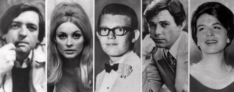 Wszystkie ofiary grupy Mansona. Od lewej: Frykowski, Tate, Parent, Sebring i Folger /ASSOCIATED PRESS/East News /East News
