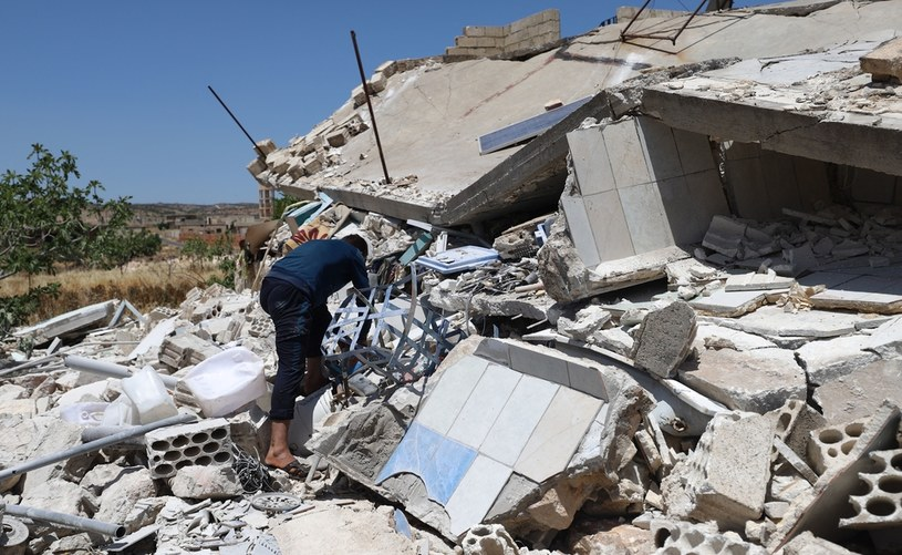 Wszystkie źródła podają, że rakiety spadły m.in. na prywatny szpital, a wśród ofiar są lekarze i personel medyczny /ABDULAZIZ KETAZ /AFP
