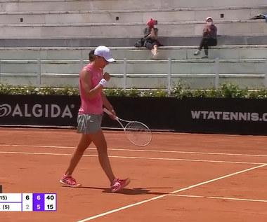 WTA w Rzymie. Iga Świątek pokonała Elinę Switolinę. Wideo