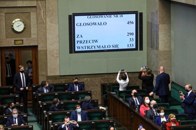 Wtorkowe głosowanie w Sejmie /Rafał Guz /PAP