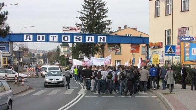 Wtorkowy protest pracowników Autosanu /Józef Polewka /RMF FM