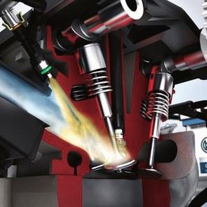 WTRYSK POŚREDNI Paliwo jest podawane do kolektora ssącego. Takie rozwiązanie jest coraz rzadziej stosowane. /Motor