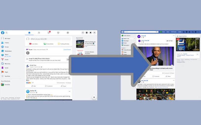 Wtyczka Old Layout for Facebook dla Chrome'a. Twórca: matthew.a.kruse /materiały prasowe