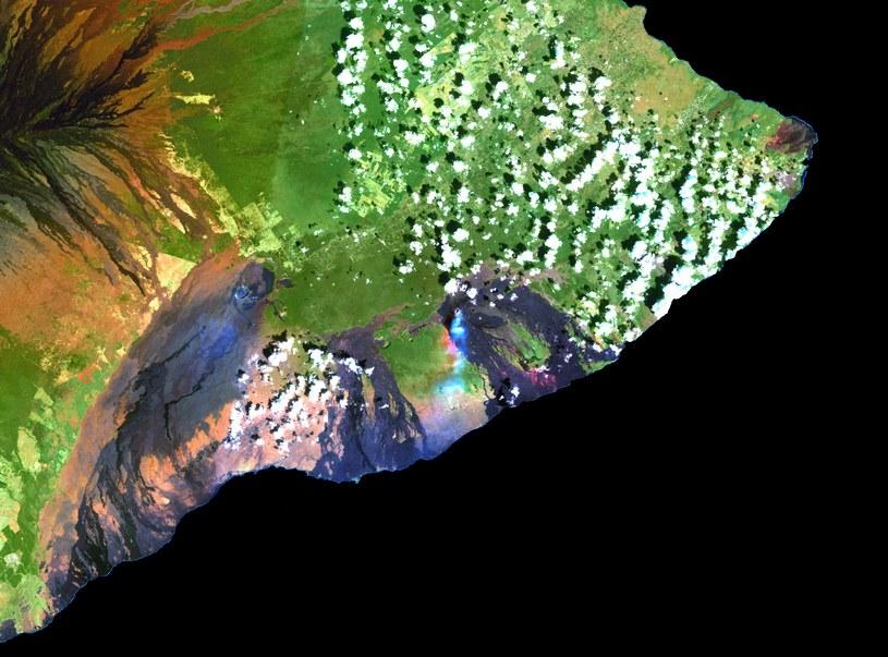 Wulkan Kilauea widziany z orbity /materiały prasowe