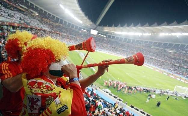 Wuwuzele królowały podczas mundialu w RPA /AFP