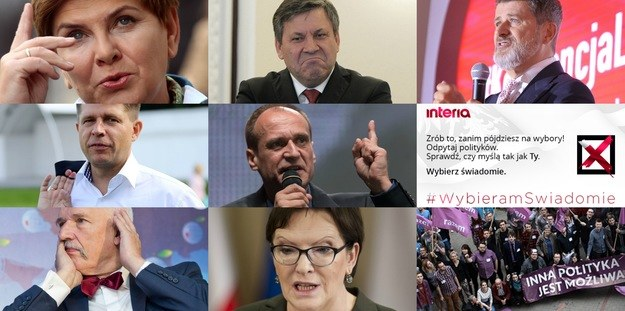 #WybieramSwiadomie - zadaj pytanie politykom! /INTERIA.PL