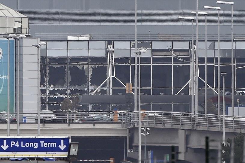 Wybite szyby na lotnisku Zaventem /AFP