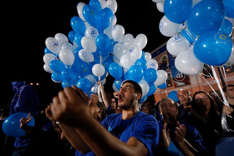 Wyborcy Gruzińskiego Marzenia świętują /AFP