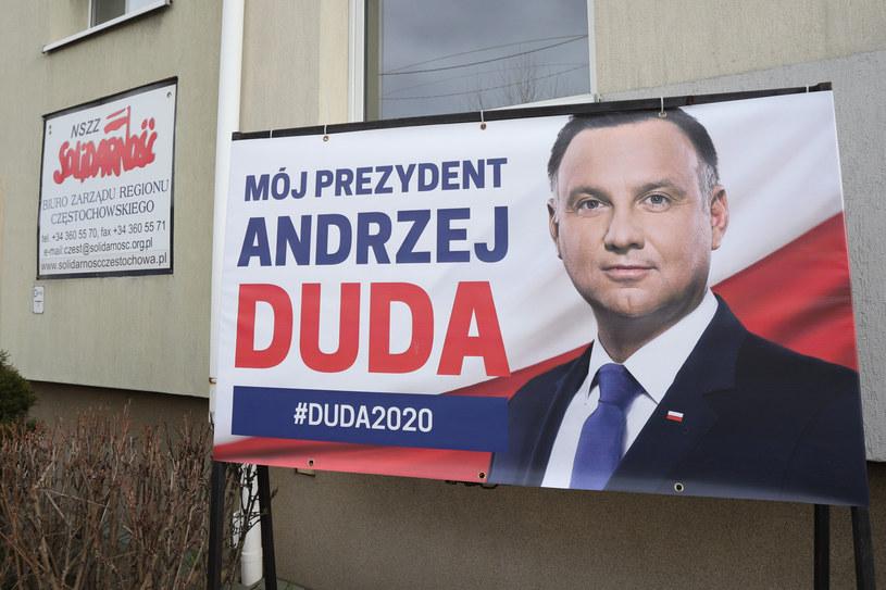 Wyborczy billboard Andrzeja Dudy /Tomasz Kudala /Reporter