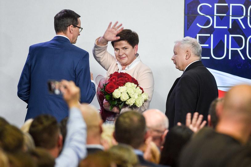 Wybory do PE wygrało Prawo i Sprawiedliwość. Beata Szydło uzyskała rekordowy wynik w skali kraju /Zbyszek Kaczmarek /Reporter