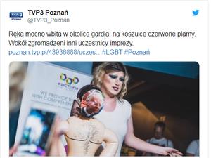 """Wybory """"Mister Gay 2019"""": Kukła abp. Jędraszewskiego z poderżniętym gardłem"""