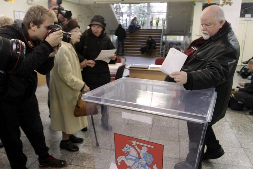 Wybory na Litwie /VALDA KALNINA /PAP