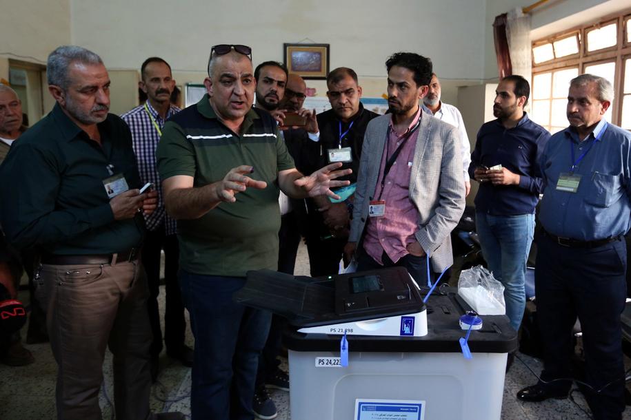 wybory parlamentarne w Iraku /ALI ABBAS /PAP/EPA