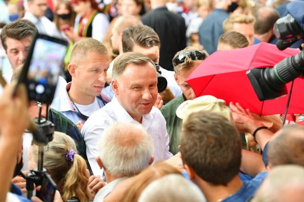 Wybory prezydenckie 2020. Andrzej Duda podczas spotkania z wyborcami w Białej Podlaskiej /Wojtek Jargiło /PAP