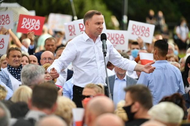 Wybory prezydenckie 2020. Prezydent RP Andrzej Duda /Wojtek Jargiło /PAP