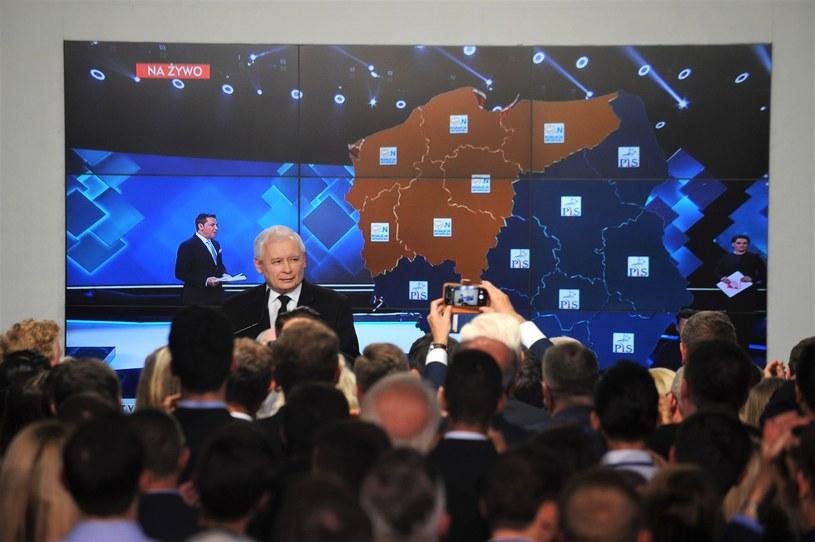 Wybory Samorządowe. Wieczór wyborczy w siedzibie PiS /Adam Chełstowski /Agencja FORUM