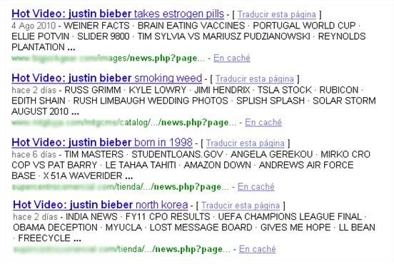Wybrane wyniki wyszukiwania dla hasła Justin Bieber /materiały prasowe