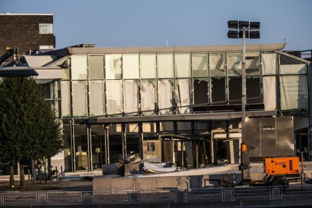 Wybuch bomby zniszczył budynek kopenhaskiego urzędu skarbowego /OLAFUR STEINAR GESTSSON /PAP/EPA