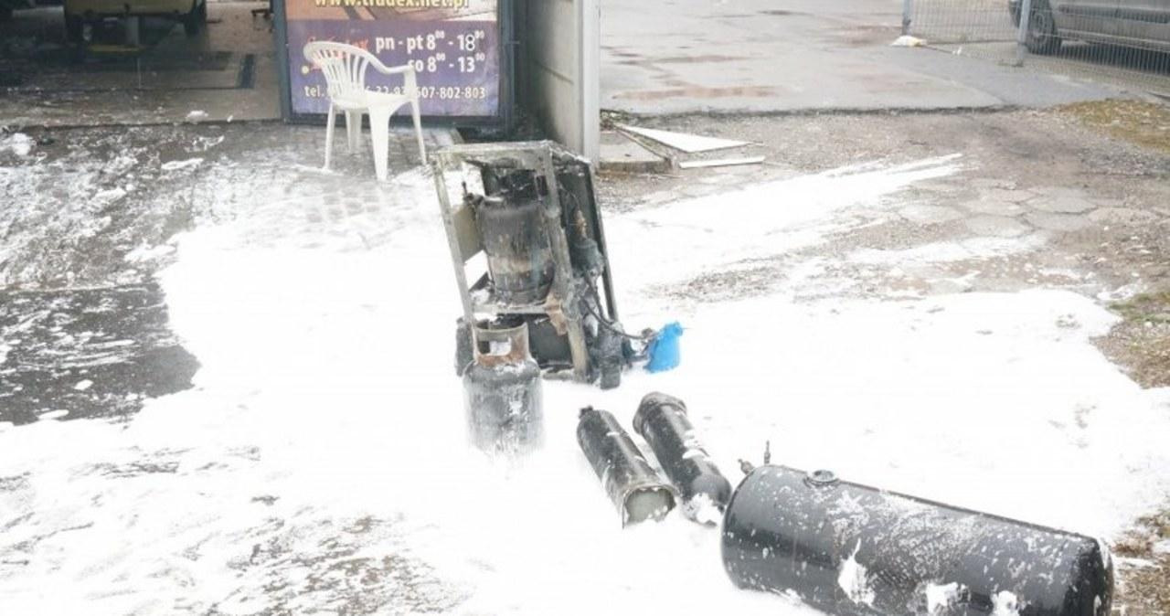 Wybuch gazu na stacji kontroli pojazdów