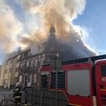 Wybuch gazu w kamienicy w Mieszkowicach. Ściana budynku została zniszczona
