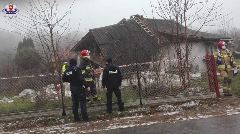 Wybuch gazu w Rejowcu Fabrycznym /lubelska.policja.gov.pl /Policja
