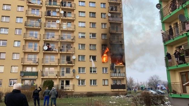 Wybuch i pożar w bloku w Zabrzu /Gorąca Linia RMF FM