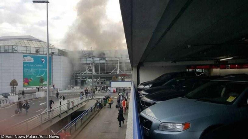 Wybuch na lotnisku /PAP/EPA
