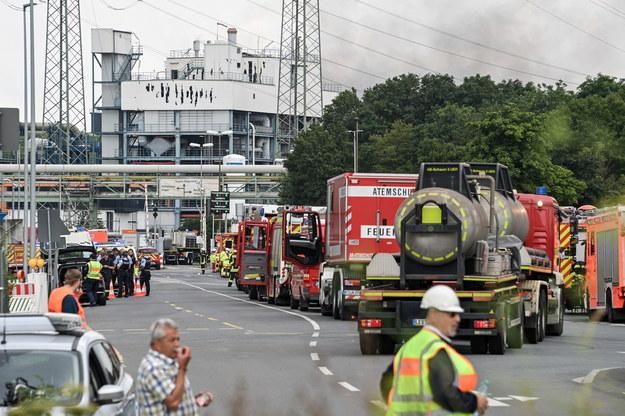 Wybuch na terenach przemysłowych Leverkusen /Sascha Steinbach /PAP/EPA