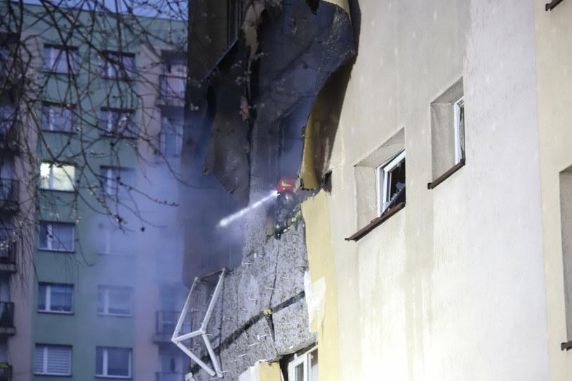 Wybuch poważnie uszkodził część bloku /Polska Press/East News /East News