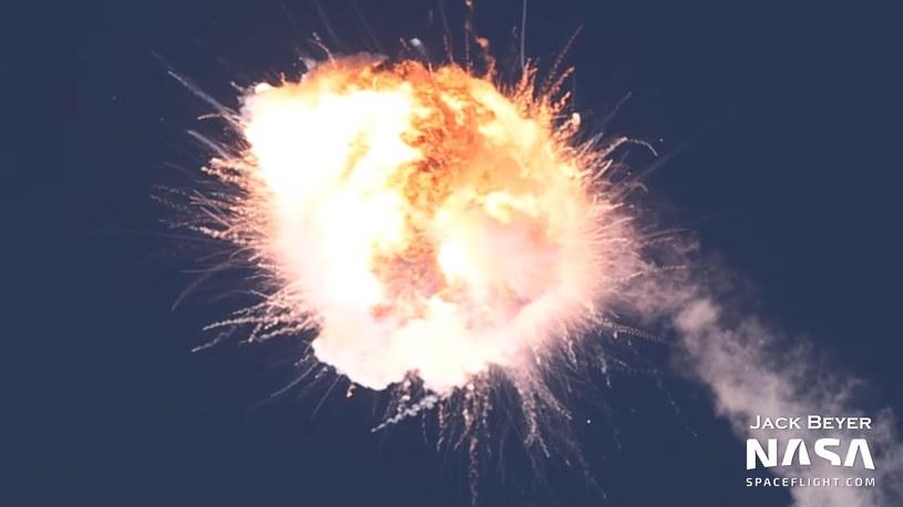 Wybuch rakiety Firefly /NASASpaceFlight.com/Jack Beyer /