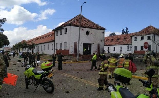 Wybuch samochodu-pułapki w szkole policyjnej w Bogocie