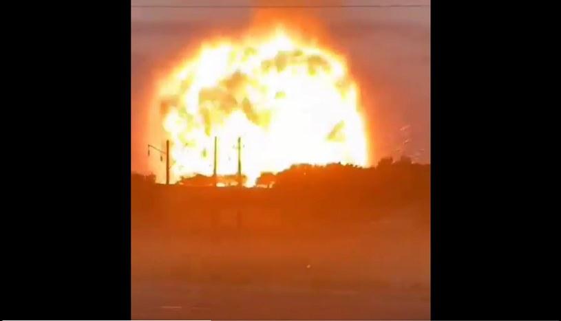 Wybuch składu amunicja w Kazachstanie /Twitter