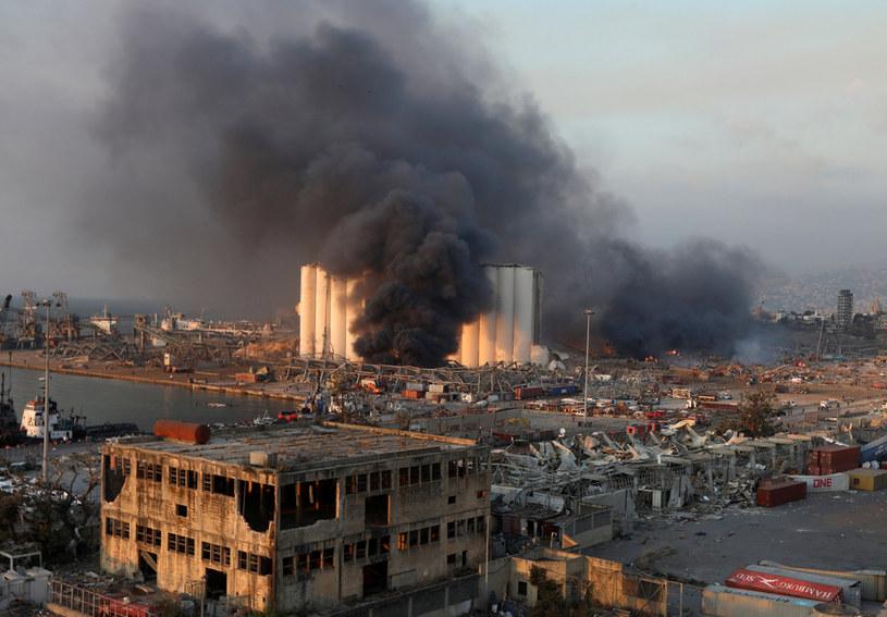 Wybuch w Bejrucie /MOHAMED AZAKIR/Reuters /Agencja FORUM