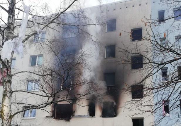 Wybuch w bloku mieszkalnym w Niemczech /Polizei Magdeburg /Twitter