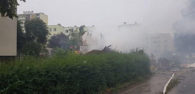 Wybuch w domu jednorodzinnym, fot. Fot. Arkadiusz Piętak /KM PSP Toruń
