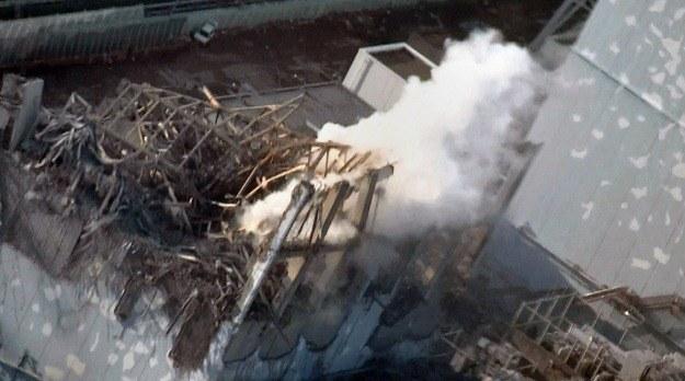 Wybuch w elektrowni Fukushima I /AFP