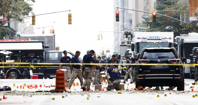 """Wybuch w Nowym Jorku. """"Motywy sprawcy nie są znane"""" /PAP/EPA"""