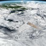 Wybuch wulkanu obserwowany z pokładu ISS