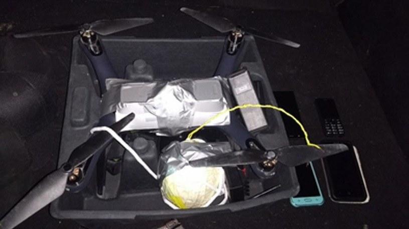 Wybuchowy dron należący do kartelu CJNG / Mexican Federal Police /materiały prasowe