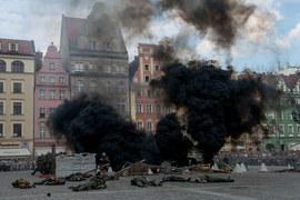 Wybuchy i strzały we Wrocławiu