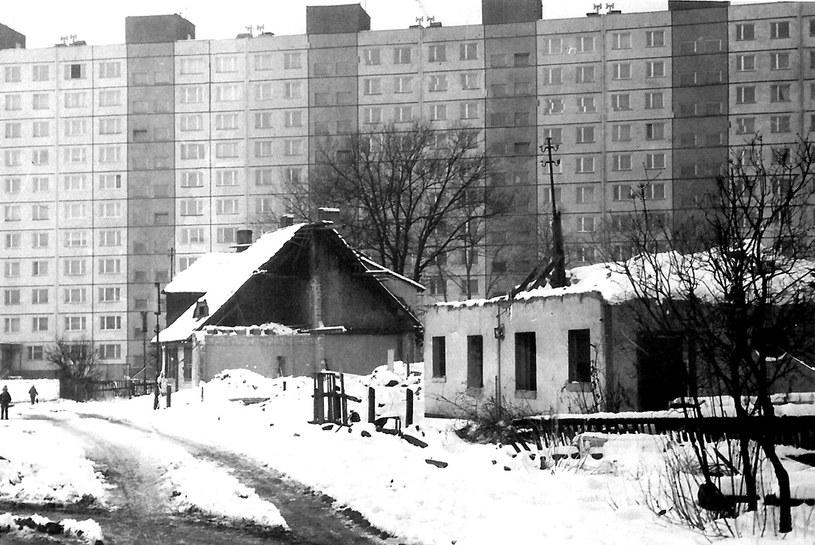 Wyburzanie Giszowca w latach 70. Źródło: www.giszowiec.sewera.pl /&nbsp