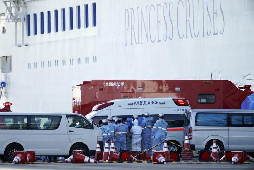 Wycieczkowiec Diamond Princess należy do korporacji Carnival Japan, japońskiej filii amerykańsko-brytyjskiego operatora wycieczkowców /FRANCK ROBICHON /PAP/EPA