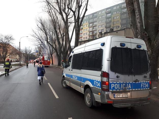 Wyciek gazu został zatamowany przez zasypanie ziemią wykopu /KWP Łódź /Policja