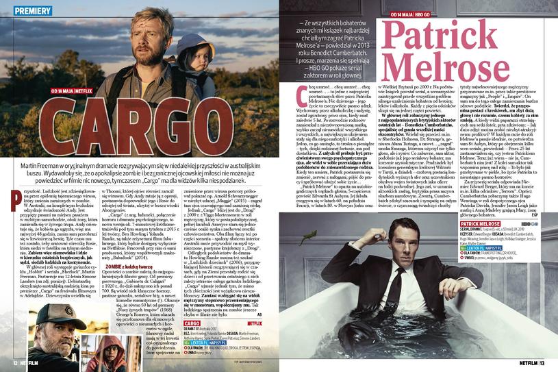 """Wyczekiwane premiery: """"Cargo"""" z Martinem Freemanem i """"Patrick Melrose"""" z Benedictem Cumberbatchem /materiały prasowe"""