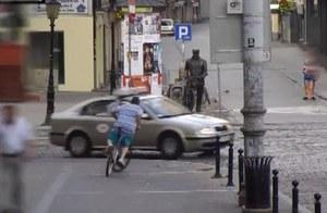 Wyczyny pijanego rowerzysty