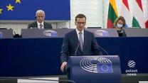 """""""Wydarzenia"""": Gorąca debata na temat Polski. Premier Morawiecki wystąpił w Parlamencie Europejskim"""