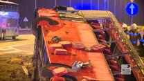 """""""Wydarzenia"""": Podkarpackie. Wypadek autobusu na A4. Pięć osób nie żyje, kilkadziesiąt rannych"""