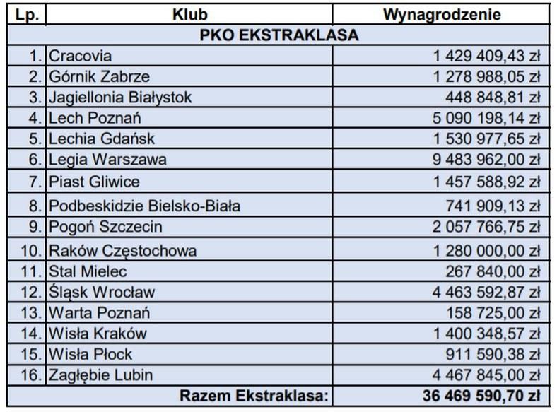 Wydatki polskich klubów na agentów (źródło PZPN) /Interia.pl /INTERIA.PL